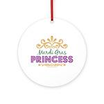 Mardi Gras Princess Ornament (Round)