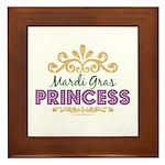Mardi Gras Princess Framed Tile