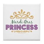Mardi Gras Princess Tile Coaster