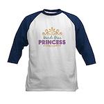 Mardi Gras Princess Kids Baseball Jersey
