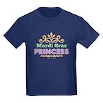 Mardi Gras Princess Kids Dark T-Shirt