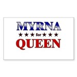 MYRNA for queen Rectangle Sticker