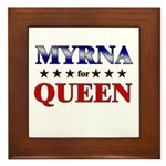 MYRNA for queen Framed Tile