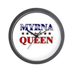 MYRNA for queen Wall Clock