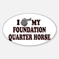 """Foundation Quarter Horse"" Oval Decal"