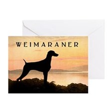 Weimaraner Sunset Greeting Cards (Pk of 10)