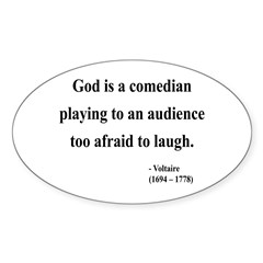 Voltaire 6 Oval Decal