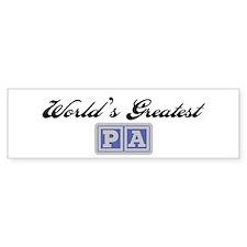 World's Greatest Pa Bumper Bumper Sticker
