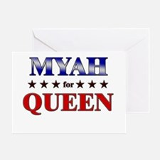MYAH for queen Greeting Card