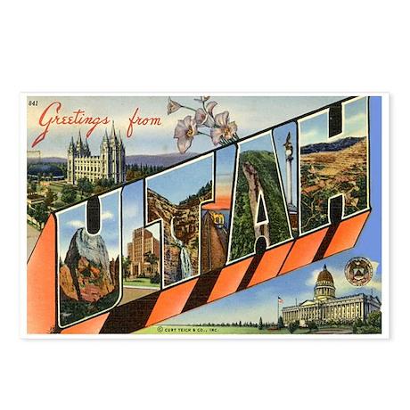 Greetings from Utah Postcards (Package of 8)