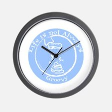 Not Always Groovy Wall Clock