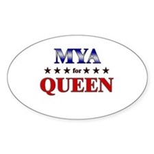 MYA for queen Oval Decal