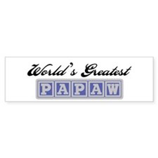 World's Greatest Papaw Bumper Bumper Sticker