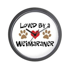 Loved By A Weim... Wall Clock