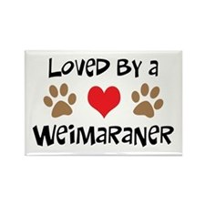 Loved By A Weim... Rectangle Magnet