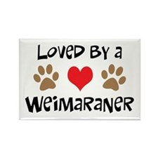 Loved By A Weim... Rectangle Magnet (10 pack)