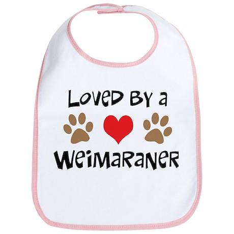 Loved By A Weim... Bib