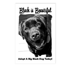Adopt a Big Black Dog Postcards (Package of 8)