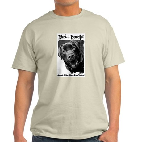Adopt a Big Black Dog Light T-Shirt