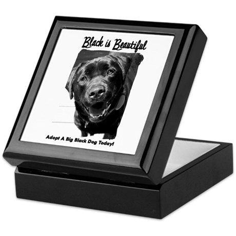 Adopt a Big Black Dog Keepsake Box
