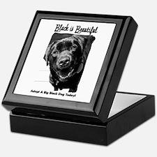Adopt a Big Black Dog Keepsake Box