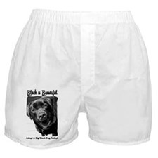 Adopt a Big Black Dog Boxer Shorts
