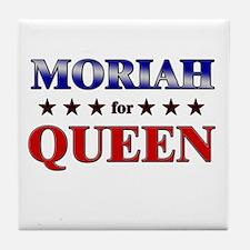 MORIAH for queen Tile Coaster