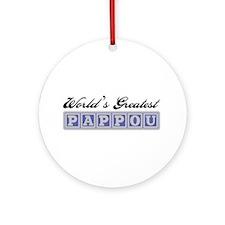 World's Greatest Pappou Ornament (Round)