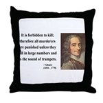 Voltaire 8 Throw Pillow