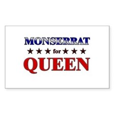 MONSERRAT for queen Rectangle Decal