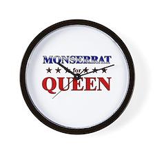 MONSERRAT for queen Wall Clock