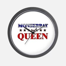 MONSERRAT for queen Wall Clock