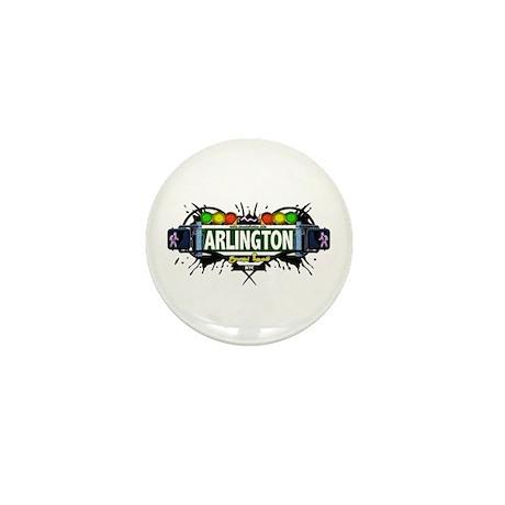 Arlington, Staten Island NYC (White) Mini Button (