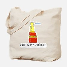 Cat is my co-pilot Tote Bag
