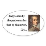 Voltaire 10 Oval Sticker