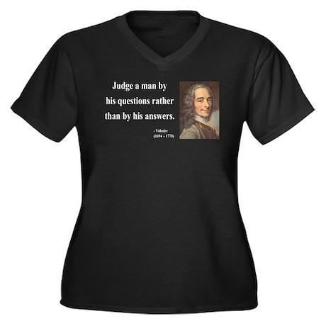 Voltaire 10 Women's Plus Size V-Neck Dark T-Shirt
