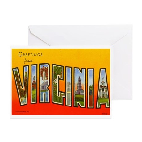 Greetings from Virginia Greeting Cards (Pk of 10)