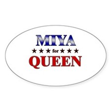 MIYA for queen Oval Decal