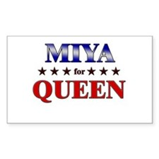 MIYA for queen Rectangle Decal
