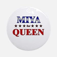 MIYA for queen Ornament (Round)