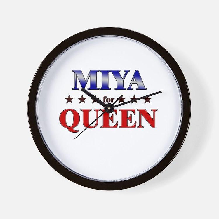 MIYA for queen Wall Clock