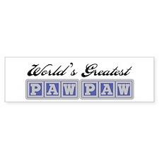 World's Greatest PawPaw Bumper Bumper Sticker