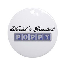 World's Greatest Poppy Ornament (Round)