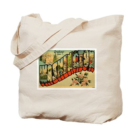 Greetings from Washington Tote Bag
