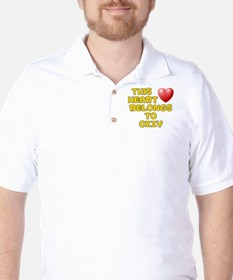 This Heart: Ozzy (D) Golf Shirt