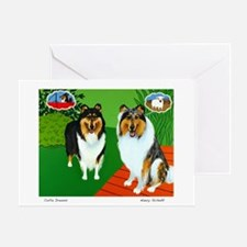 Collie Dreams Greeting Card
