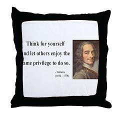 Voltaire 12 Throw Pillow