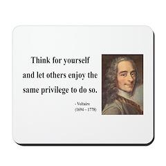 Voltaire 12 Mousepad