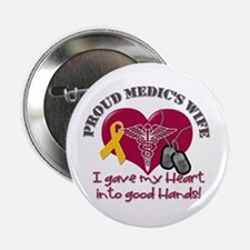 """Proud Medic's Wife 2.25"""" Button"""