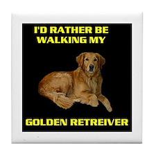 GOLDEN RETREIVER Tile Coaster